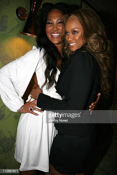 Kimora Lee Simmons and Tyra Banks during Kimora Lee Simmons Presents KLS Fall 2007 Collection Inside at Social Hollywood in Los Angeles California...