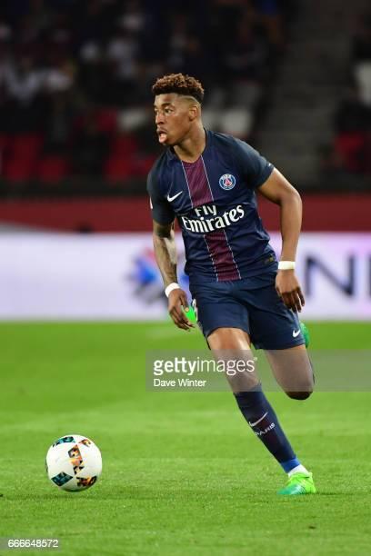Kimpembe Presnel of PSG during the French Ligue 1 match between Paris Saint Germain PSG and En Avant Guingamp at Parc des Princes on April 9 2017 in...