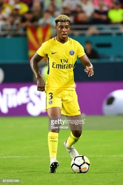 Kimpembe Presnel of PSG during the International Champions Cup match between Paris Saint Germain and Juventus Turin at Hard Rock Stadium on July 26...