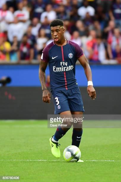 Kimpembe Presnel of PSG during the Ligue 1 match between Paris Saint Germain and Amiens SC at Parc des Princes on August 5 2017 in Paris France