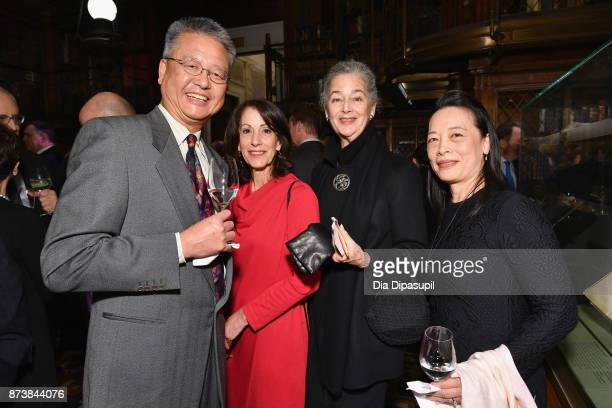 Kin Hing Lee Joan Weinstein Linda Rosenthal and Christina Hsiao attend the Getty Medal Dinner 2017 at The Morgan Library Museum on November 13 2017...