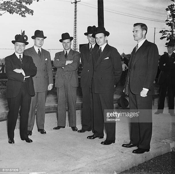 Kin of Rockefeller Await Arrival of Body On the railroad station at Tarrytown NY awaiting the arrival of the body of John D Rockefeller Sr late oil...