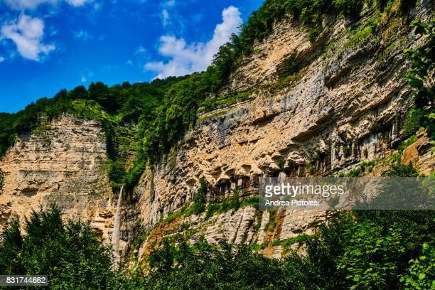 Kinchkha canyon waterfall, Imereti, Georgia