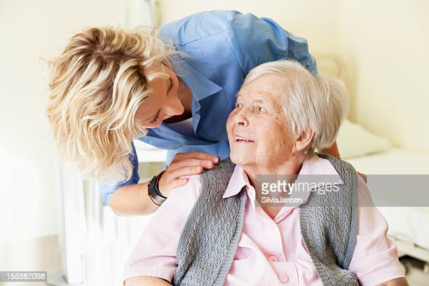 kind care for senior woman
