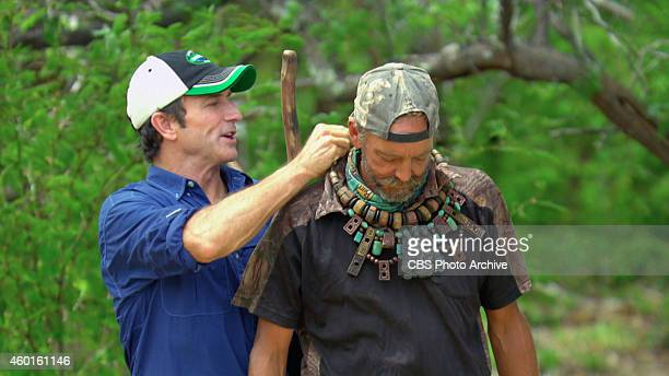 'Kind of Like Cream Cheese' Jeff Probst awards Keith Nale with the Immunity Necklace during the eleventh episode of Survivor 29 on a special two hour...