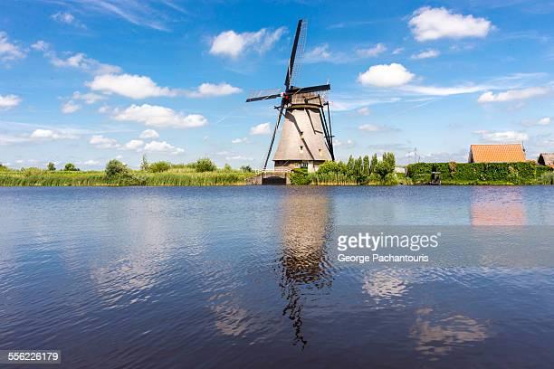 Kinderdijk windmill reflection