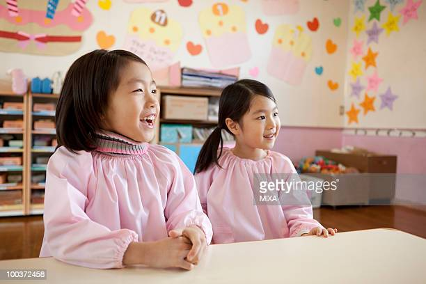 Kindergarten Children Sitting