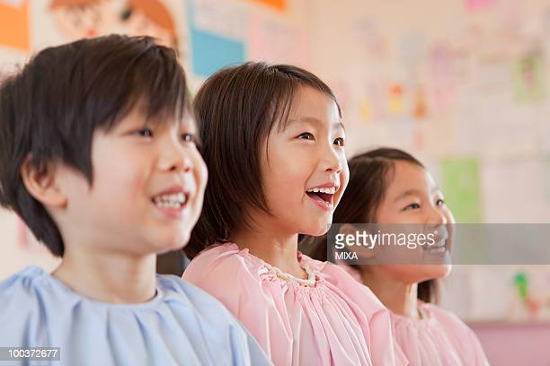 Kindergarten Children Smiling