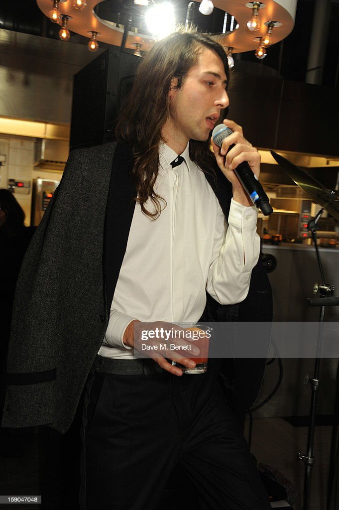 Kindness performs at the launch of 1205 Paula Gerbase hosted by Harvey Nichols on January 6, 2013 in London Engand.