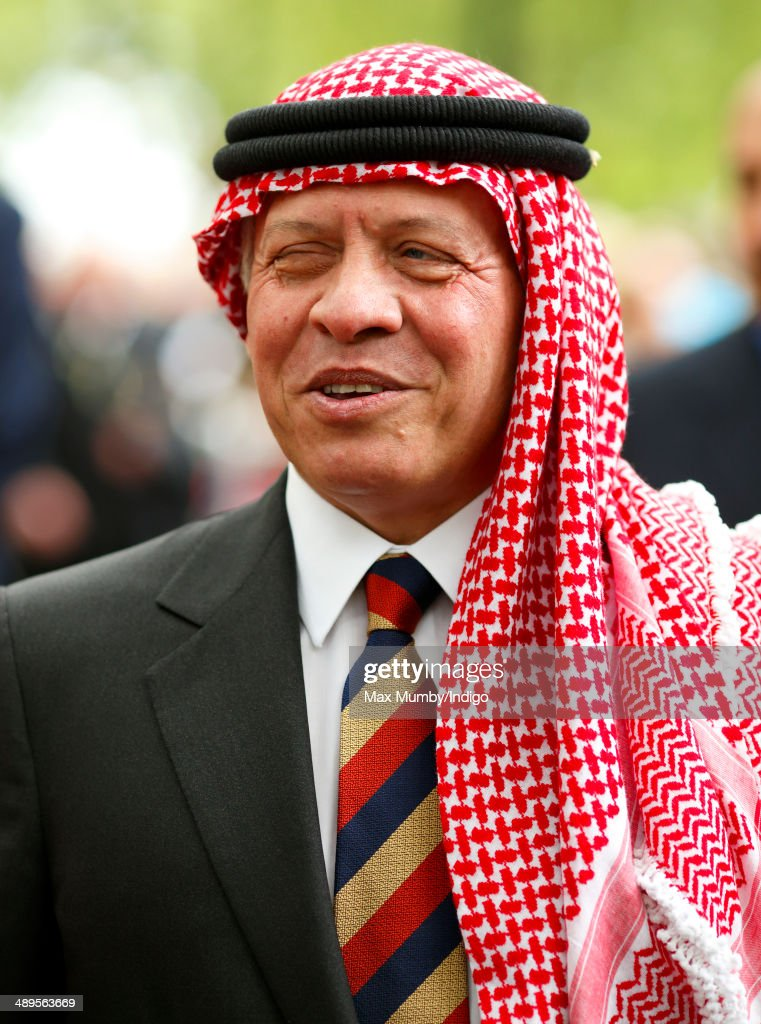 King Abdullah II ibn al-Hussein of Jordan (in his role as Colonel in Chief The Light Dragoons) attends the 90th annual Combined Cavalry Old Comrades Association Parade in Hyde Park on May 11, 2014 in London, England.