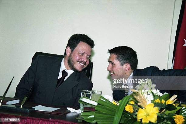 MA'AN JORDAN JANUARY 01 King Abdullah II of Jordan and half brother Prince Ali of Jordan are photographed for Life Magazine in 2000 in Ma'an Jordan