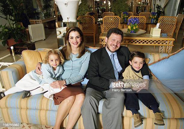 MA'AN JORDAN JANUARY 01 King Abdullah II of Jordan Queen Rania Prince Hussein and Princess Iman are photographed for Life Magazine in 2000 in Ma'an...