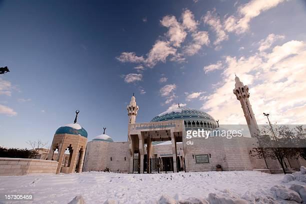 King Abdullah Mosque Amman / Snow