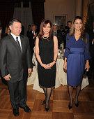 King Abdullah of Jordan Agentinian President Cristina Fernandez and Queen Rania of Jordan Jordan attend the dinner honouring Jordan Royals at the...