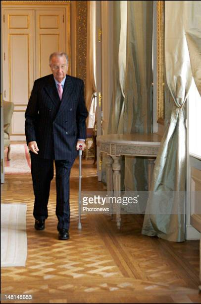 King Albert II of Belgium at the swearing in of Rudy Demotte new MinisterPresident for the Walloon Region to