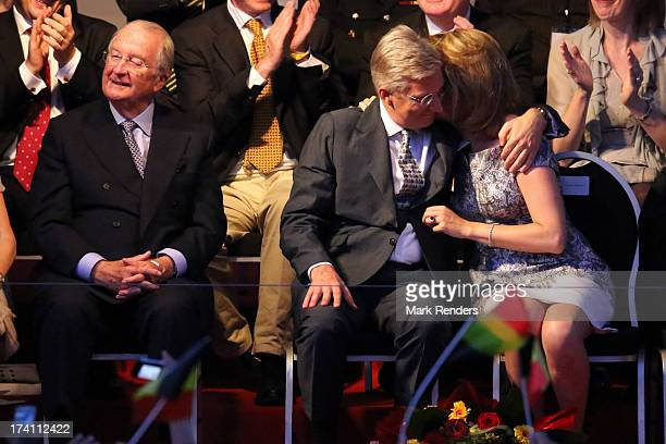 King Albert II of Belgium Prince Philippe of Belgium and Princess Mathilde of Belgium attend the 'Bal National' Held Ahead Of Belgium Abdication...