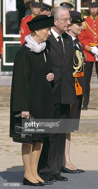 King Albert Queen Paola Of Belgium Attend The Funeral Of Hrh Princess Juliana Of The Netherlands At The Nieuwe Kerk In Delft