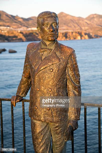 King Alfonso seventh statue by F Martin 2003 Nerja Malaga province Spain commemorating his visit in 1885