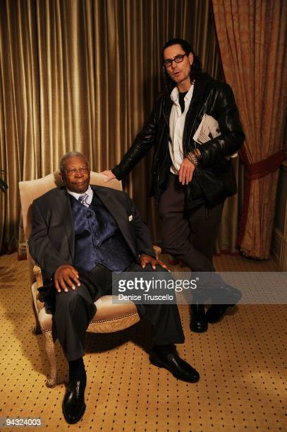 B King and David Saltz pose before the grand opening of BB Kings Blues Club at The Mirage on December 11 2009 in Las Vegas Nevada