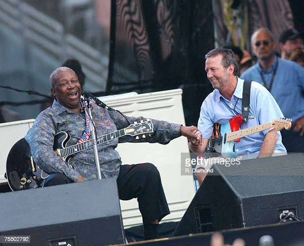 BB King and Eric Clapton at the Cotton Bowl Stadium in Dallas Texas