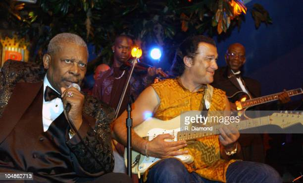 BB King and Steven Seagal during Grand Opening BB Kings Blues Club NashvilleNight 1 at BB Kings Blues Club in Nashville TN United States