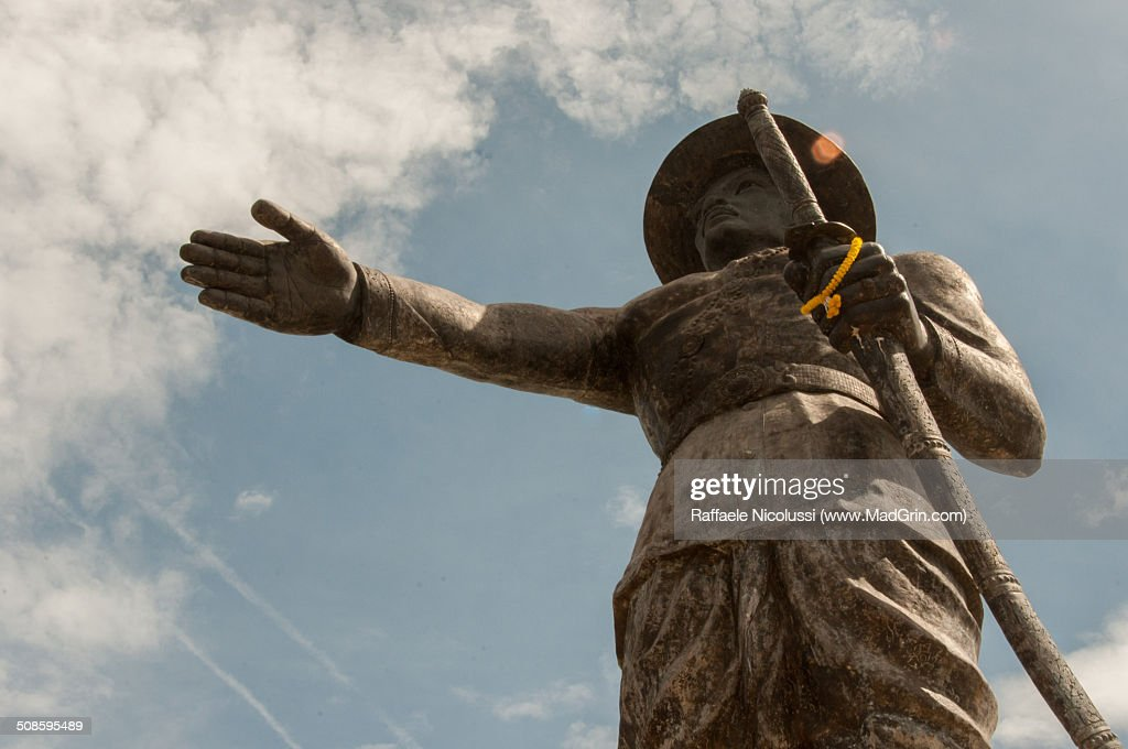 King Anouvong statue : Stock Photo