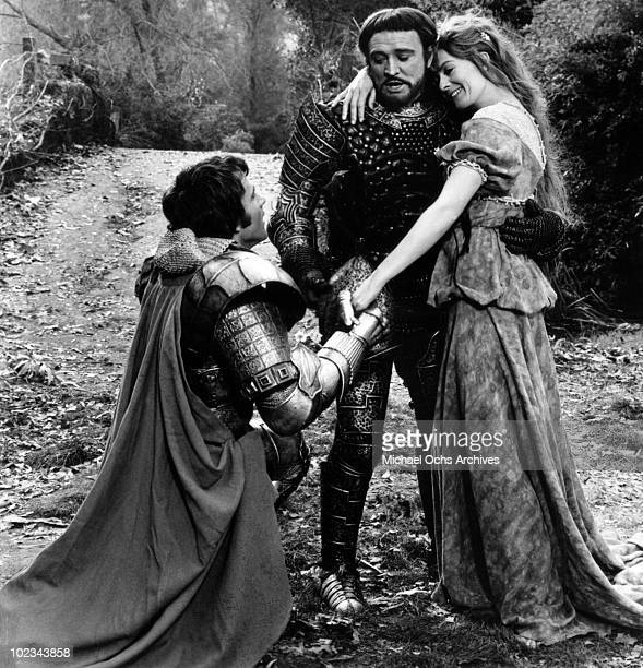 King Arthur informs Guenevere and Lancelot that the Round Table is dead in a scene from the movie 'Camelot' which was released on October 25 1967