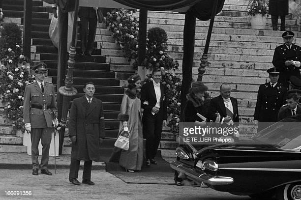 King Baudouin Of Belgium And Wife Fabiola De Mora Y Aragon Bruxelles le 15 décembre 1960 le roi Baudouin de Belgique épouse Fabiola de Mora et Aragon...
