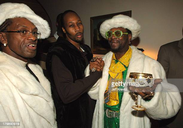 King Bert RZA and Don Magic Juan during HBO's Annual PreGolden Globes Private Reception at Chateau Marmont in Los Angeles California United States