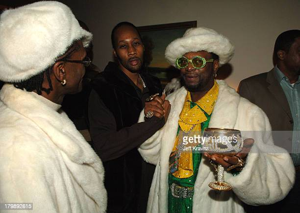 King Bert RZA and The Bishop Don Magic Juan during HBO's Annual PreGolden Globes Private Reception at Chateau Marmont in Los Angeles California...