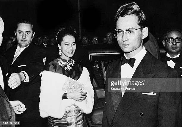 King Bhumibol Adulyadej of Thailand aka Rama IX and wife Queen Sirikit Kitiyakara