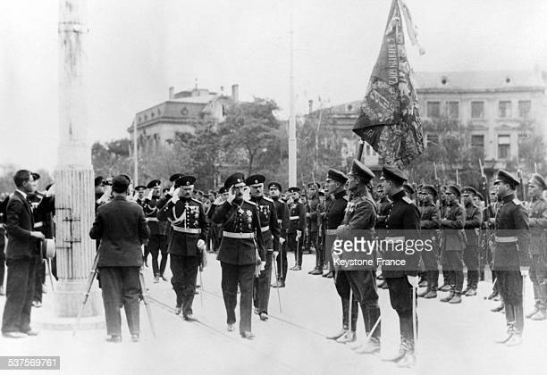 King Boris III of Bulgaria goes to the Parliament of Sofia on October 31 1932 in Sofia Bulgaria