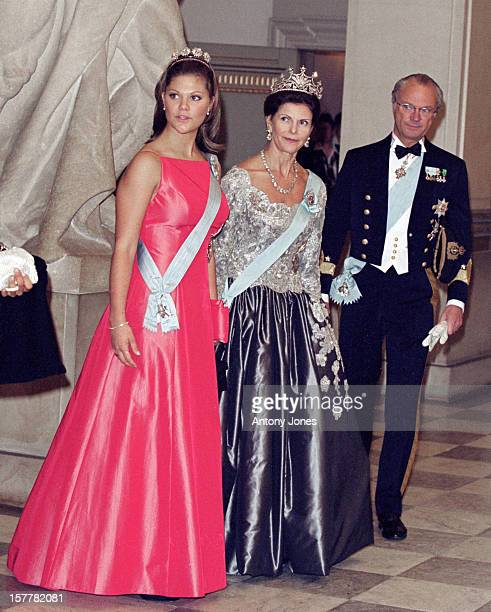 King Carl Gustaf Queen Silvia Crown Princess Victoria Of Sweden Attend Queen Margrethe Ii Of Denmark'S 60Th Birthday Celebrations In CopenhagenGala...