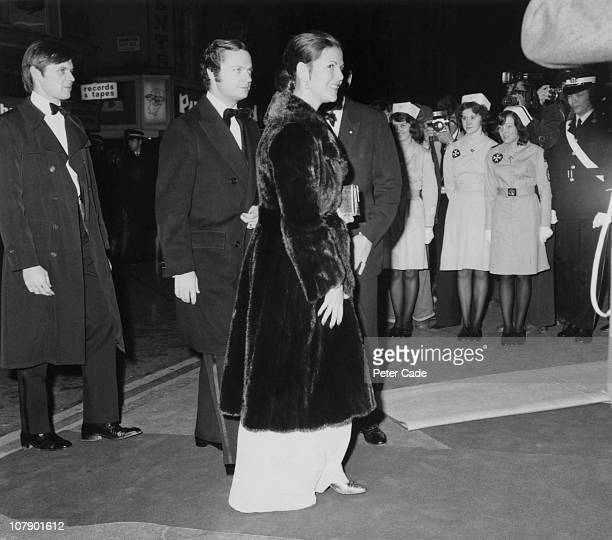 King Carl Gustaf XVI and Queen Silvia of Sweden leaving a charity cabaret at the Talk Of The Town Leicester Square London 14th December 1976The show...