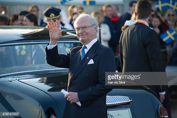 King Carl Gustaf XVI attends National Day Celebrations at Djurgarden on June 6 2015 in Stockholm Sweden
