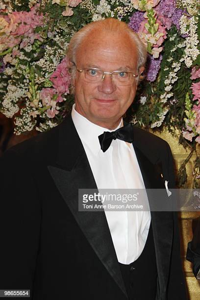 King Carl Gustav of Sweden attends The World Scout Foundation Diner at Hotel de Paris on April 24 2010 in MonteCarlo Monaco