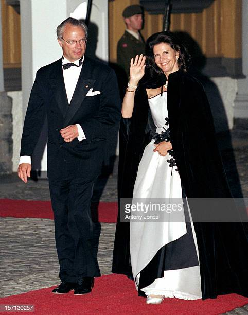 King Carl Gustav Queen Silvia Of Sweden Attend King Harald Queen Sonja'S 60Th Birthday Celebrations In NorwayGala Dinner At The Royal Residence...