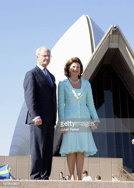 King Carl Gustav Queen Silvia Of Sweden State Visit To AustraliaVisit To The Sydney Opera House For A Reception Hosted By The SwedishAustralian...