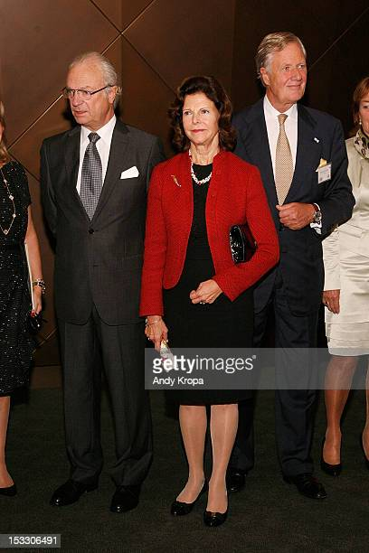 HM King Carl XVI Gustaf and Queen Silvia of Sweden and Chairman of Unilever Michael Treschow attend the 5th annual SwedishAmerican Chamber Of...