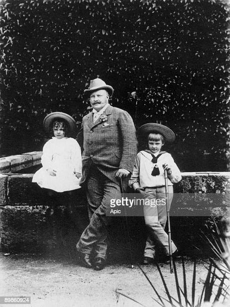 King Charles 1st of Portugal with his children royal prince Luis Filipe he will be murdered with his father in1908and infante Don Manuel summer 1892...