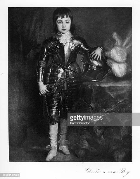 King Charles II as a boy Portrait of Charles II wearing a suit of armour