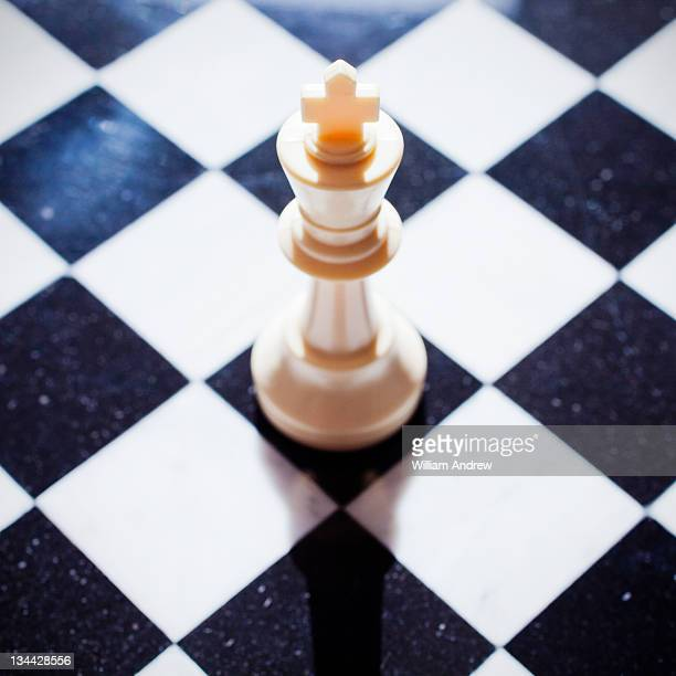 King chess piece on board