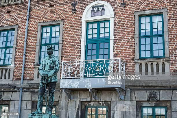 King Christian IX before the old town hall, Nyborg, Denmark