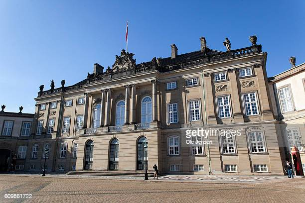 King Christian the VIII palace at Amalienborg where the new exhibition 'From The Royal Hiding Places' opens in Copenhagen Denmark on on September 19...