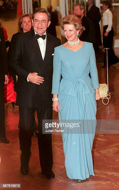 King Constantine and Queen Anne Marie of Greece attend a Ballet performance at The Muziek Theater in Amsterdam as part of The 60th Birthday...