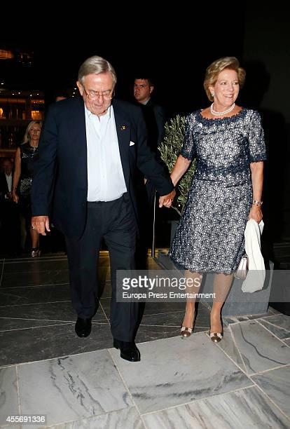 King Constantine II of Greece and Queen AnneMarie of Greece attend the Golden Wedding Anniversary of King Constantine II and Queen Anne Marie of...