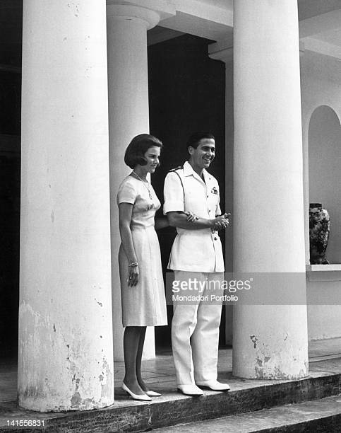 King Constantine II of Greece with his fiancee Princess AnneMarie of Denmark Athens 1964