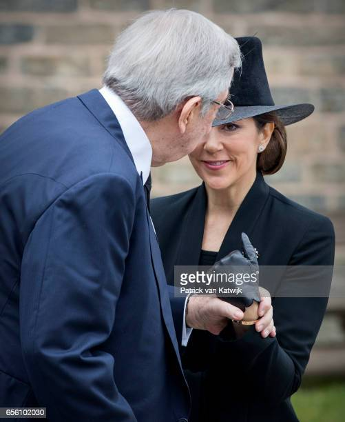 King Constantine of Greece and Crown Princess Mary of Denmark attend the funeral of Prince Richard at the Evangelische Stadtkirche on March 21 2017...