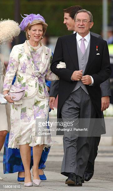 King Constantine Queen AnneMarie Of Greece Attend The Wedding Of Crown Prince Felipe Of Spain Letizia Ortiz Rocasolano In Madrid