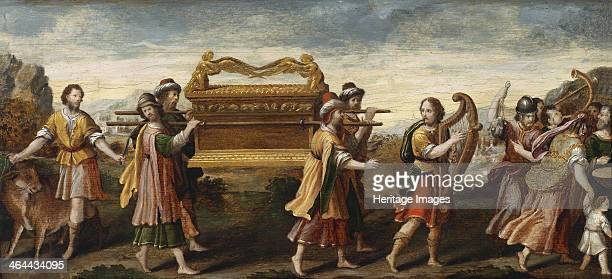 King David bearing the Ark of the Covenant into Jerusalem Early16th cen From a private collection